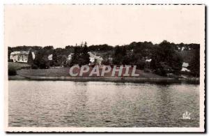 Postcard Modern Correze Viam Bourg and Lake