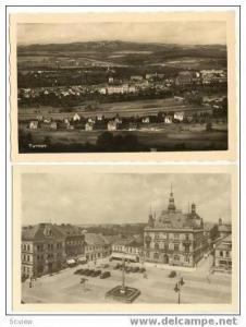 2 RP Postcards, town of TURNOV, Czech Republic, 1920s