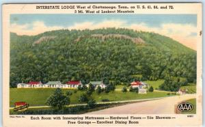 CHATTANOOGA, Tennessee  TN   Roadside INTERSTATE LODGE  c1950s Linen  Postcard