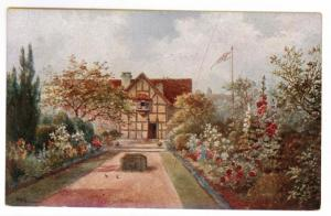 Shakespeare's Garden Strattford on Avon unused Postcard