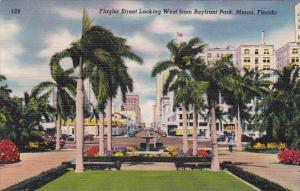 Flagler Street Looking West From Bayfront Park Miami Florida
