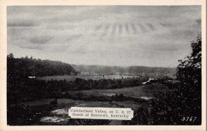 Somerset Kentucky panoramic birds eye view Cumberland Valley antique pc Z43825