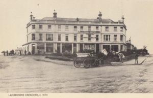 Lansdowne Crescent Stationers Post Office Leamington Spa Warks 1870 Postcard