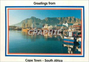 Modern Postcard Greetings from Cape Town South Africa Cape Town Waterfront Boat
