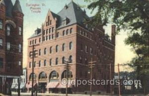 Burlington, Vt. USA Mason, Mason's Fraternal Organization, Postcard Post Card...