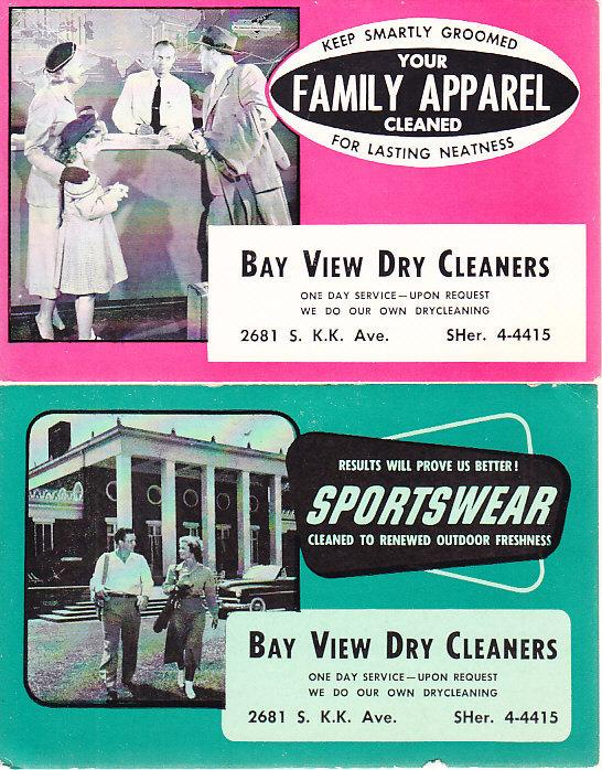 Bay View Dry Cleaners - 2 Blotters - Wisconsin