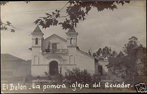 ecuador, QUITO, El Belen Iglesia, Church (1930s) RPPC