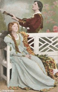 Couple. A sons of Love Nice old vintage English postcard