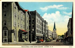 NH - Laconia. Main Street from Depot Square