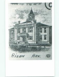 old rppc OLD BUILDING Rison - Near Fordyce & Pine Bluff Arkansas AR i9063
