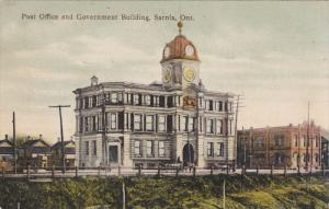 SARNIA, Ontario, Canada, PU-1907; Post Office And Government Building