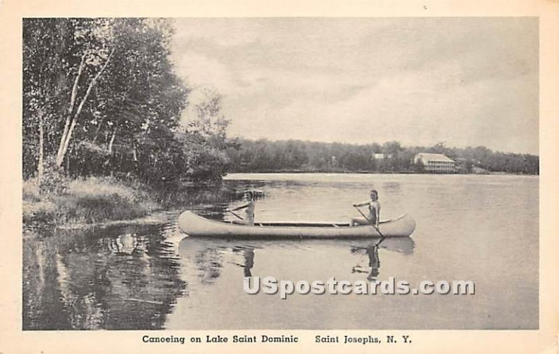 Canoeing on Lake Saint Dominic Saint Josephs NY Unused