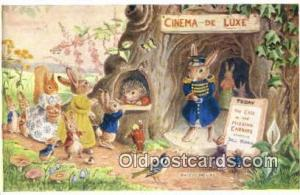 Racey Helps Post Card, Artist Signed Post Card Old Vintage Antique, PK 222  P...
