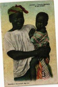 CPA AK Senegal-Dakar-Femme Bambara et son Enfant (235406)