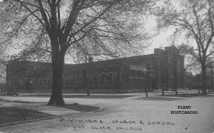 MONT CLARE, CHICAGO, ILLINOIS ST. WILLIAMS CHURCH & SCHOOL RPPC REAL PHOTO PC