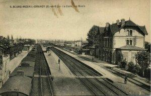 france, BLANC-MESNIL-DRANCY, La Gare, Les Quais, Railway Station (1910) Postcard