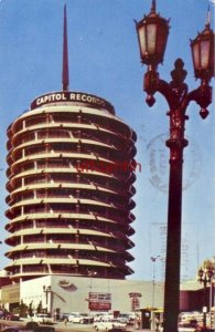 The world's first circular office building CAPITOL RECORDS. HOLLYWOOD, CA 1965