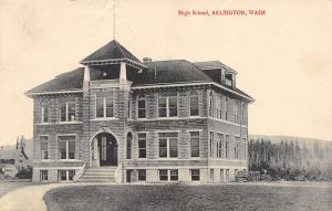 Arlington Washington~High School~Can See From Here~Destroyed by Fire 1934~1910