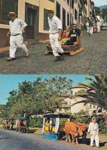 Portugal Baskets Race Down Road Tourist Basket Guided Tours 2x Rare Postcard