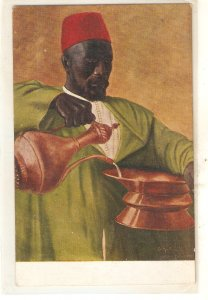 S.M. Anido. Slave. Esclavo· Fine painting, nice Spanish PC 1920s