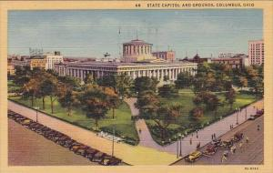 State Capitol And Grounds Columbus Ohio 1950