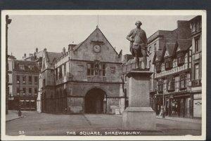 Shropshire Postcard - The Square, Shrewsbury      RS7011