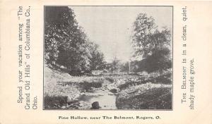E82/ Rogers Ohio Postcard Columbiana Co c1910 Pine Hollow The Belmont