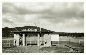 sweden, ÄPPELBO, Gullängen Idrottsplatsen (1950s) Stadium Postcard RPPC