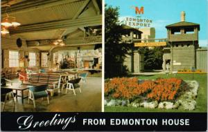Edmonton AB Alberta Greetings from Edmonton House Molson Brewery Postcard D70