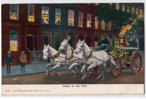 Horse Drawn Fire Engine - Going to the Fire