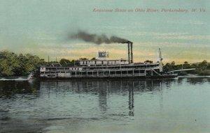 PARKERSBURG , West Virginia, 1900-10s ; Steamer Keystone State , Ohio River