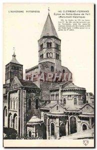 Old Postcard Clermont Ferrand Church of Notre Dame du Port