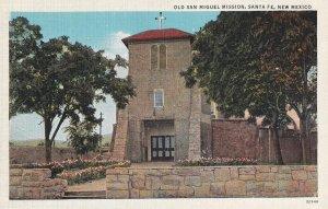 SANTA FE, New Mexico, 1900-1910s; Old San Miguel Mission