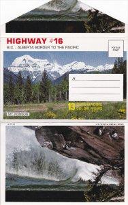 Folder Postcard : Highway 16 , B.C. - Alberta Border , Canada , 50-60s