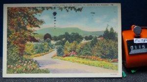 STD Vintage Scenic View in the Poconos Showing Big Pocono Tannersville Pennsylva