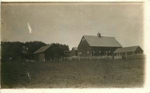 Breda Iowa 1918 Farm Buildings Rural Scene RPPC Real photo postcard 8174