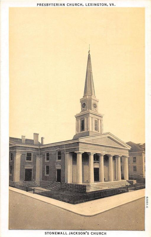 D63/ Lexington Virginia Va Postcard c1910 Presbyterian Church Building