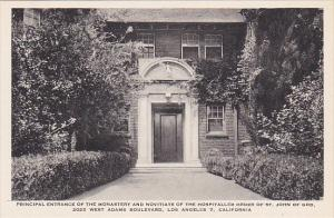 Principal Entrance Of Monastery St John Of God Los Angeles California Albertype