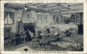 Westerly RI Elm Tree Inn Interior Postcard