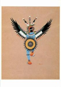 Kiowa Eagle Dance by Stephen Mopope Native American Art Postcard