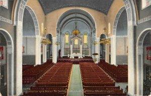 Interior & Altar ST. JAMES CATHEDRAL Seattle, WA 1909 Vintage Postcard