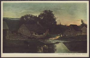 Evening,Daubigny,Painting Postcard
