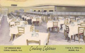 Interior Coralway Cafeterias Coral Gables and Miami Florida
