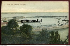 dc1536 - GUERNSEY St.Peter Port 1910s Channel Island. Harbor View