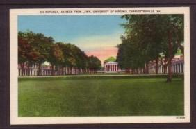 Virginia Post Card Rotunda University of Va Charlottesvile