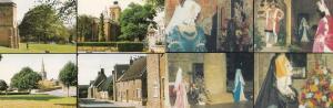 Northampton Churches Flower Festival Village 2x Postcard s