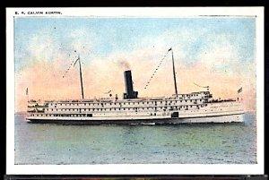 Eastern Steamship Lines Coastal Steamer SS Calvin Austin Postcard