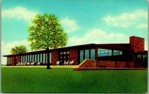 Ardmore, Oklahoma Postcard LAKE MURRAY LODGE Building View Curteich Chrome 1950s