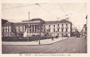 Tours Rue Nationale Palais De Justice French Postcard