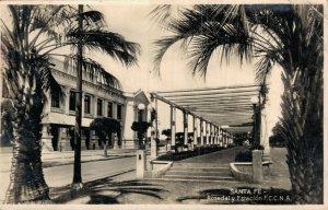 Agentina Santa Fe Rosedal y Estación Station RPPC 05.54